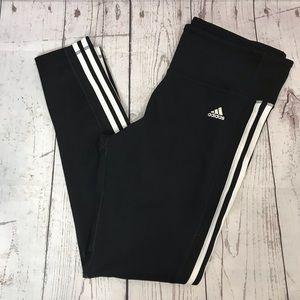 ADIDAS Black Three Stripe Tights